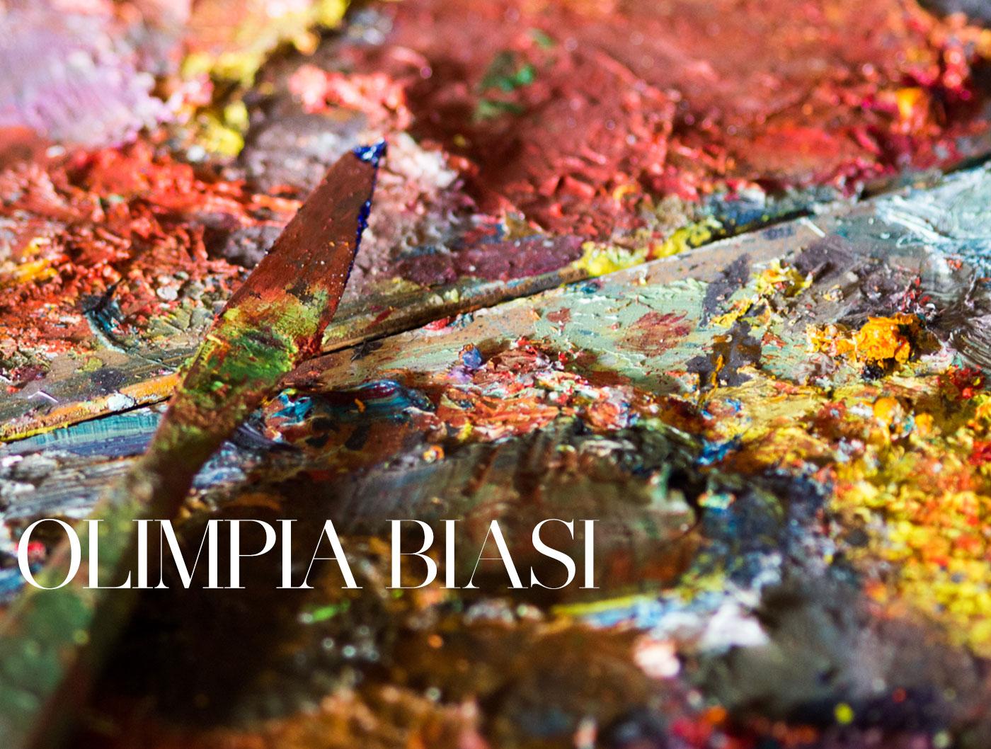 olimpia biasi, pittrice - tavolozza di colori evocativa