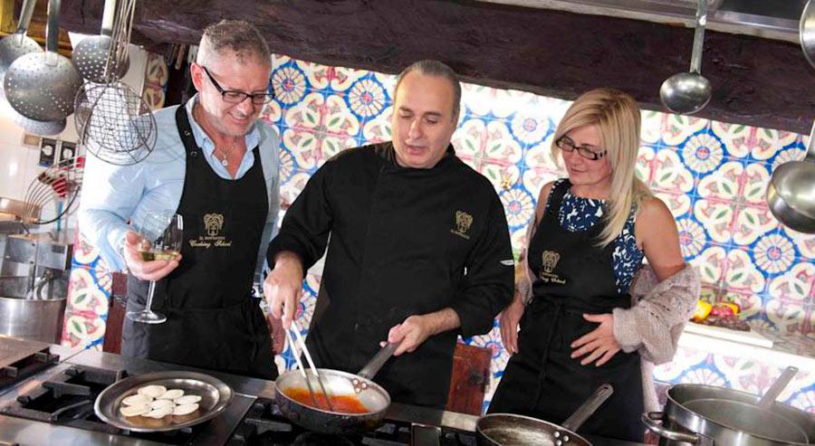 relais il bottaccio, lo chef Nino Mosca in cucina