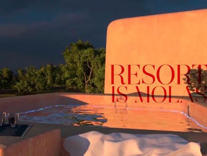 Golf Resort is molas - nuove abitazioni di lusso in Sardegna - dettaglio al tramonto