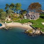 Tavern Island villa di lusso visuale complessiva della proprietà copertina