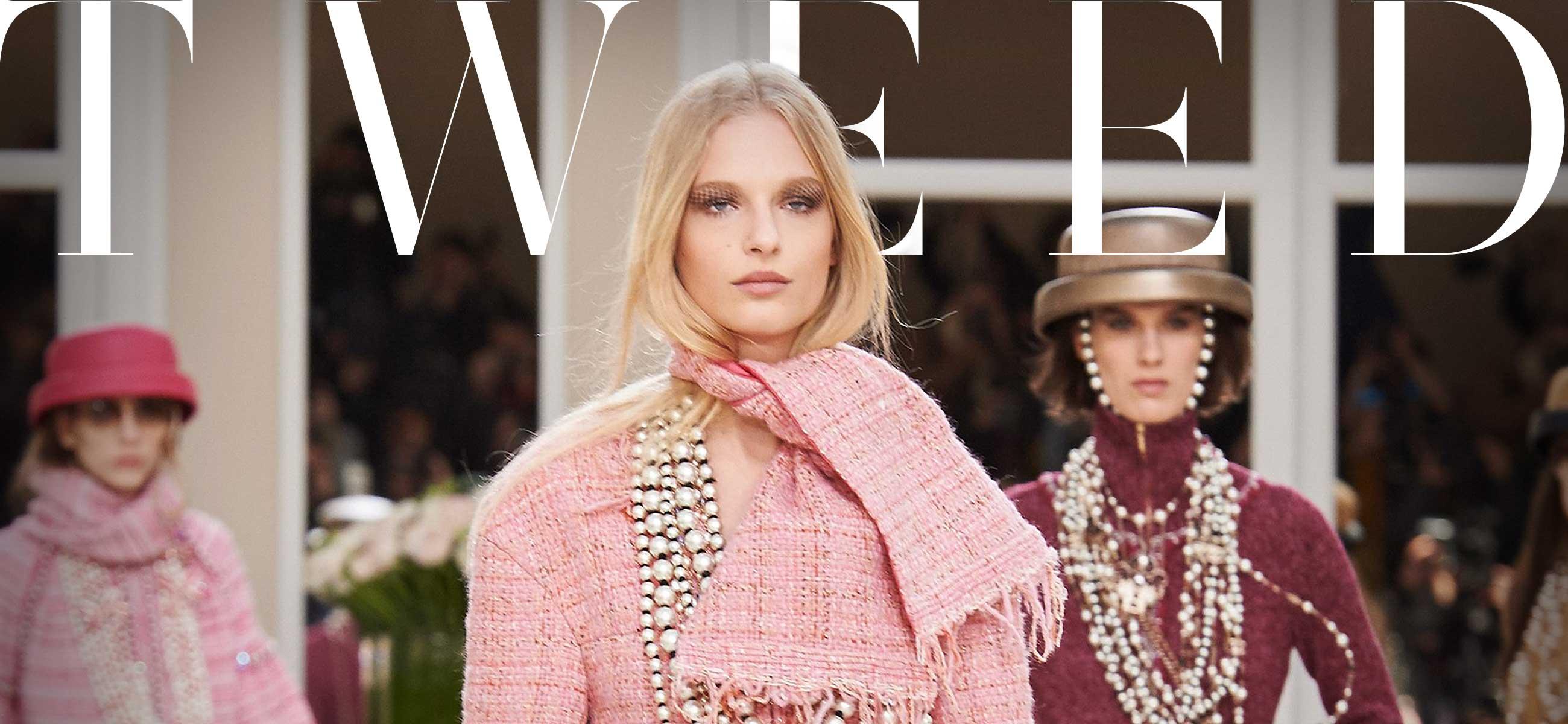 tweed per le giacche Chanel , regine dei capisapalla