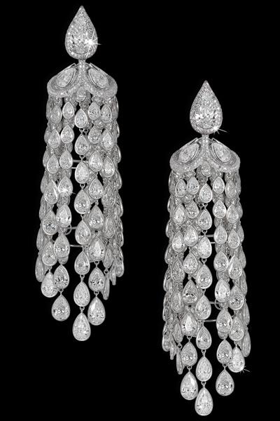 wishlist - orecchini chandelier di diamanti - david morris