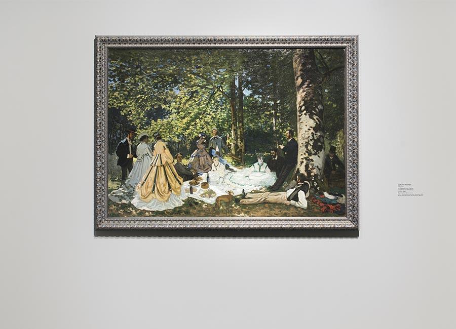 Foundation Louis Vuitton - Claude Monet, Le Déjeuner sur l'herbe, 1866, olio su tela ©Fondation Louis Vuitton/ Martin Argyroglo