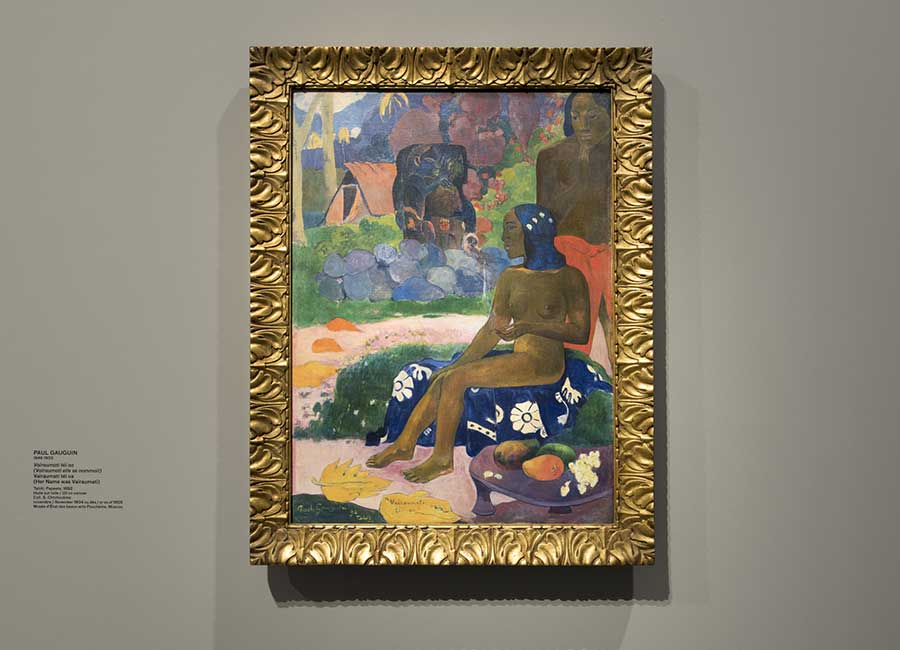Paul Gauguin, Vaïraumati téi oa (Vaïraumati elle se nommait), 1892, olio su tela ©Fondation Louis Vuitton/ Martin Argyroglo