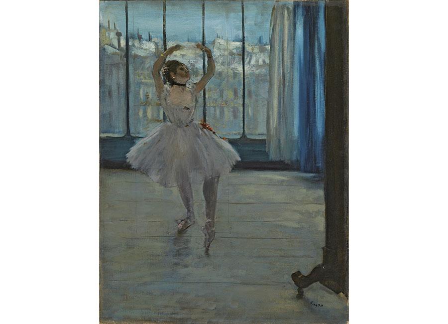 Edgar Degas, La Danseuse dans l'atelier du photographe, 1875, olio su tela, ©Moscou, Musée d'État des Beaux-Arts Pouchkine