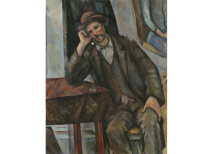 Paul Cézanne, L'Homme à la pipe (Le Fumeur), 1890-1893, olio su tela, ©Moscou, Musée d'État des Beaux-Arts Pouchkine