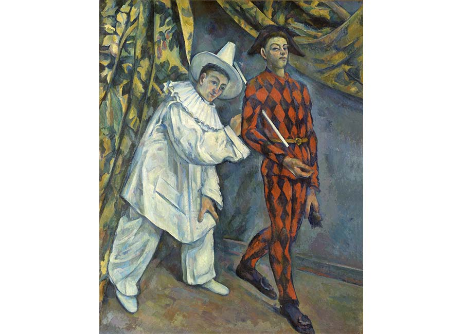 Paul Cézanne, Mardi gras (Pierrot et Arlequin), 1888-1890, olio su tela, ©Moscou, Musée d'État des Beaux-Arts Pouchkine
