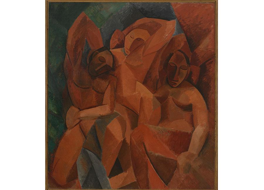Pablo Picasso, Trois femmes. Esquisse du tableau, 1908, olio su tela, © Succession Picasso 2016 Photo ©Moscou, Musée d'État des Beaux-Arts Pouchkine