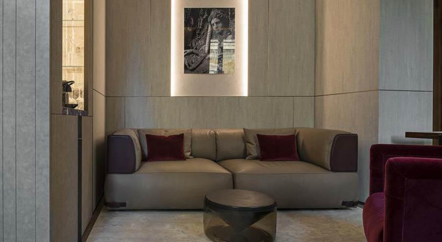 Palazzo fendi suite interni e sedute