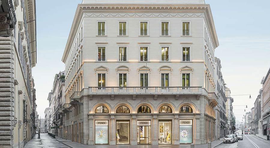 Palazzo Fendi Roma visto di giorno, esterno