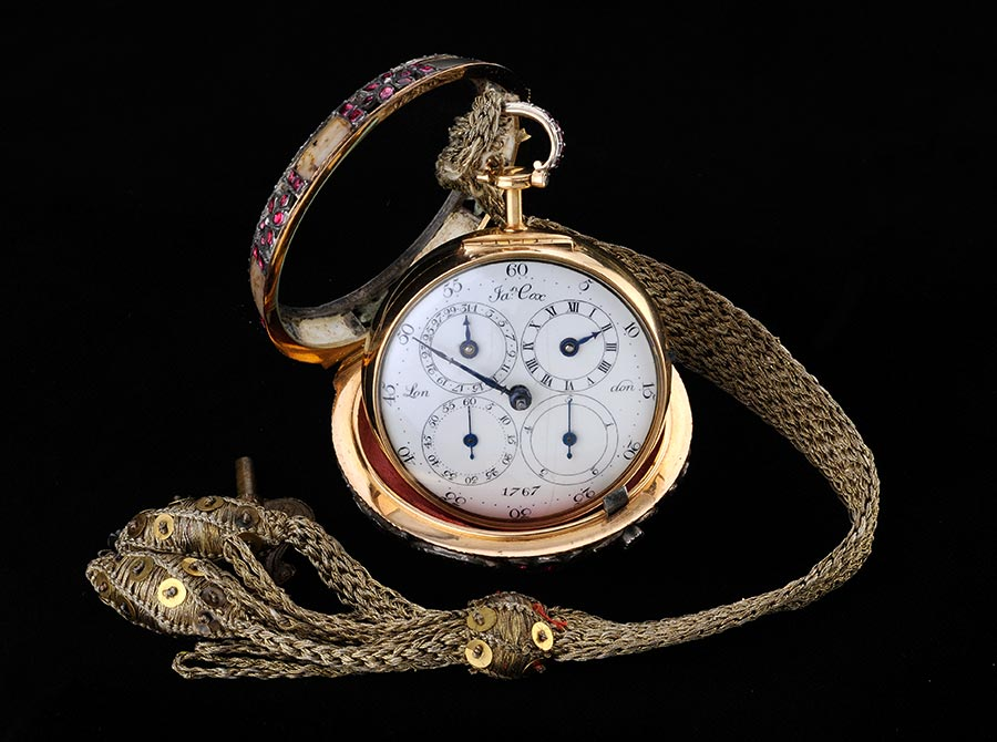 parmigiani fleurier - montre à double boi8tier de mames cox