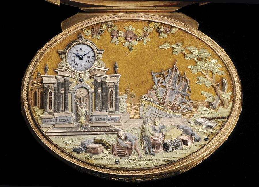 Milano Parmigiani Fleurier festeggia vent'anni oggetto restaurato orologio aperto