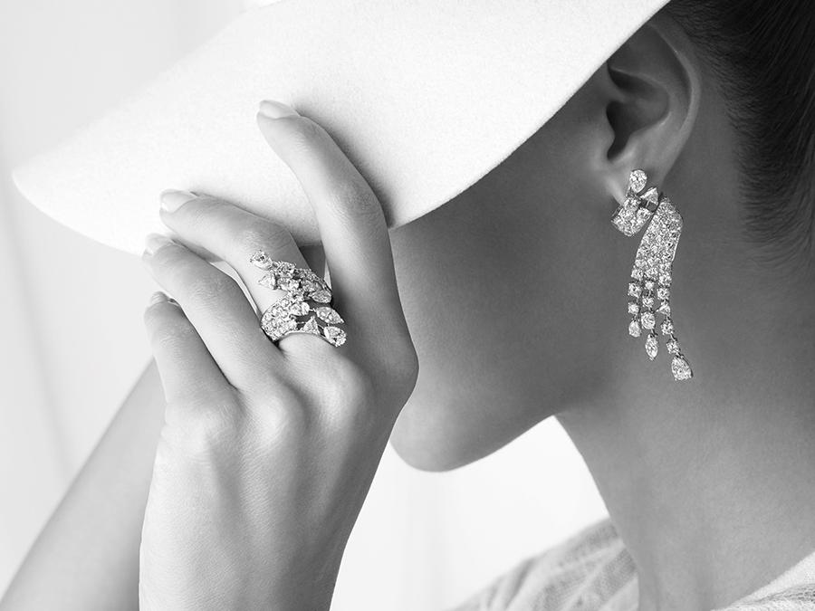 """Coco avant Chanel - Anello e Orecchini """"Emilienne"""""""
