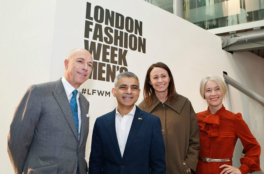 london fashion week men's: inaugurazione-london-fashion-week-mens-sadiq-khan_-credits-british-fashion-council