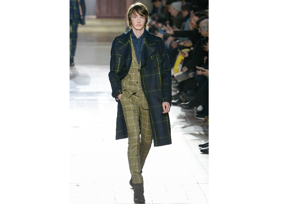 Parigi-Paul Smith_ completo check verde muschio