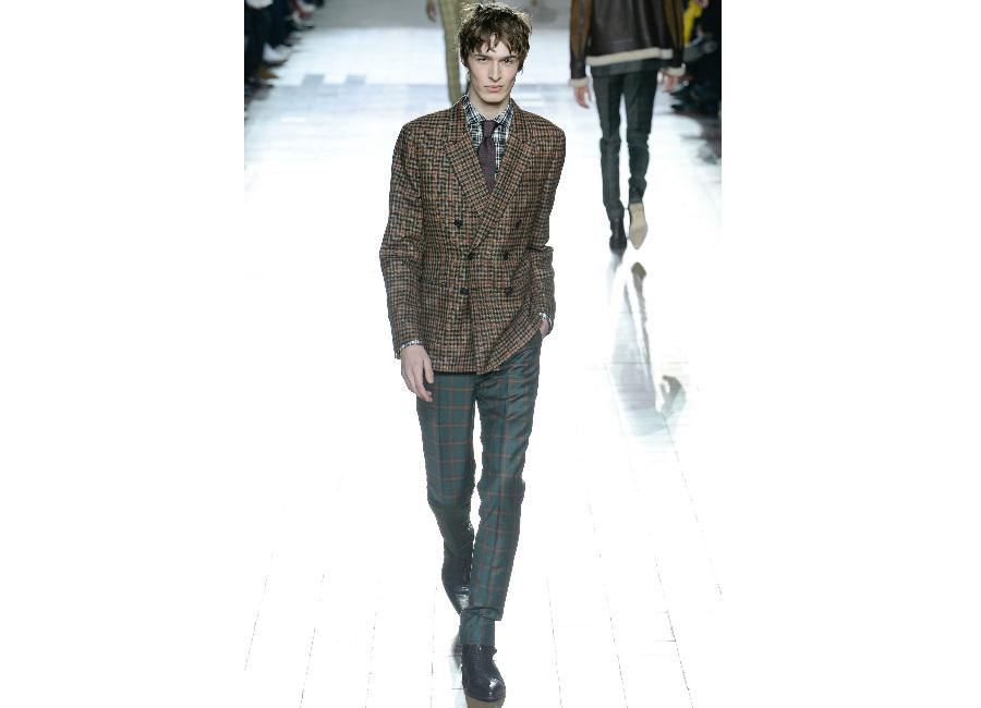 Parigi-Paul Smith_completo giacca doppiopetto e pantalone check tartan