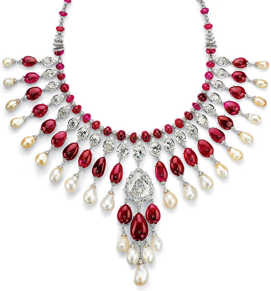 viren-bhagat-burmese-ruby-diamond-peal-necklace-foto-3