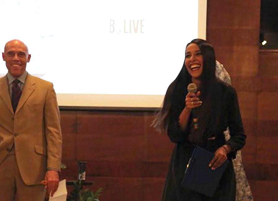 B.Live-Juliana Moreira e Bill Niada, presidente della Fondazione Near Onlus