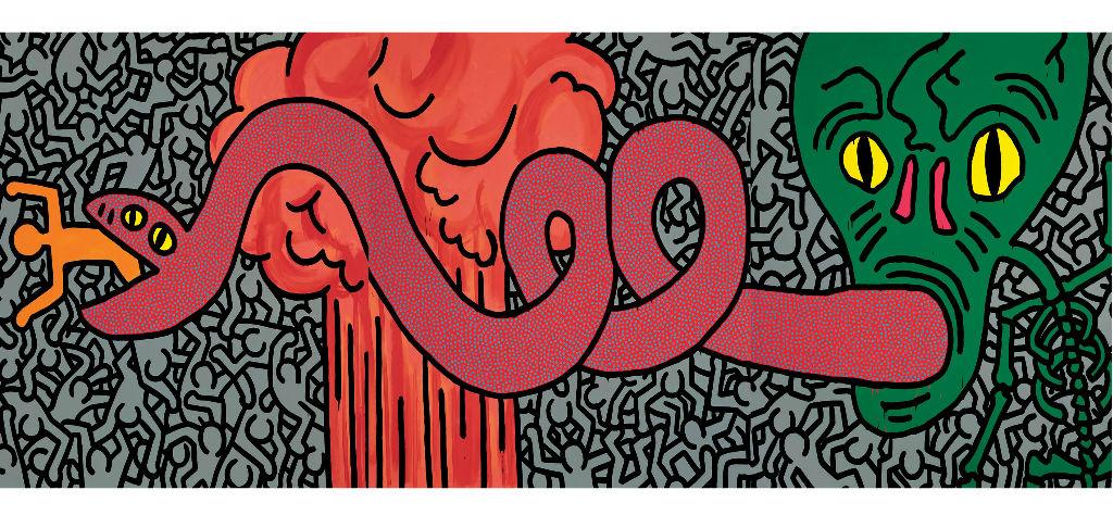 Keith Haring-Untitled-June 11 1984-acrilico su tela-Collezione privata-copertina