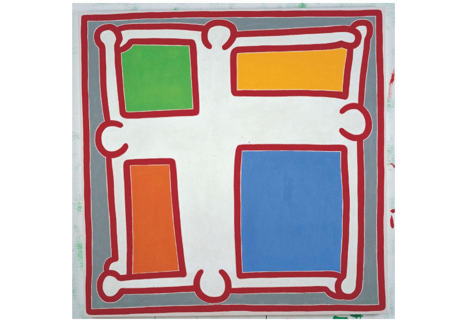 Keith Haring, Untitled No. 6, 1988, acrilico su tela, 152,4 x 152,4 cm, Collezione privata © Keith Haring Foundation