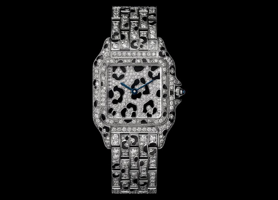 Panthere de Cartier-orologio-modello-medio-oro-bianco-diamanti-macchie-smalto-nero_12