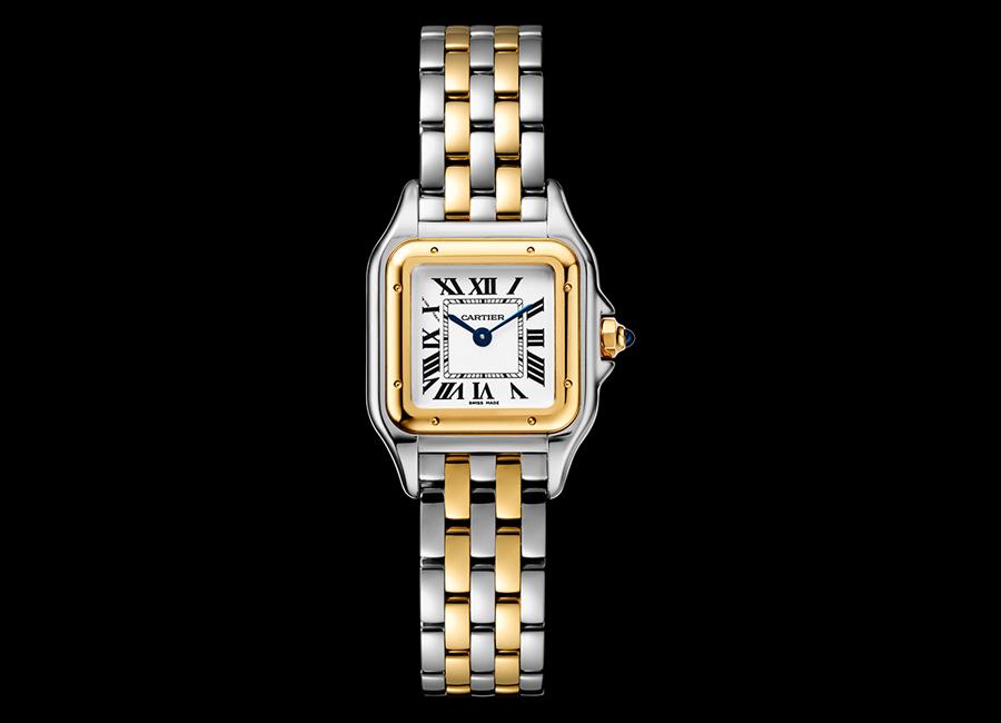 Panthere de Cartier-orologio-modello piccolo-oro-giallo-acciaio_14