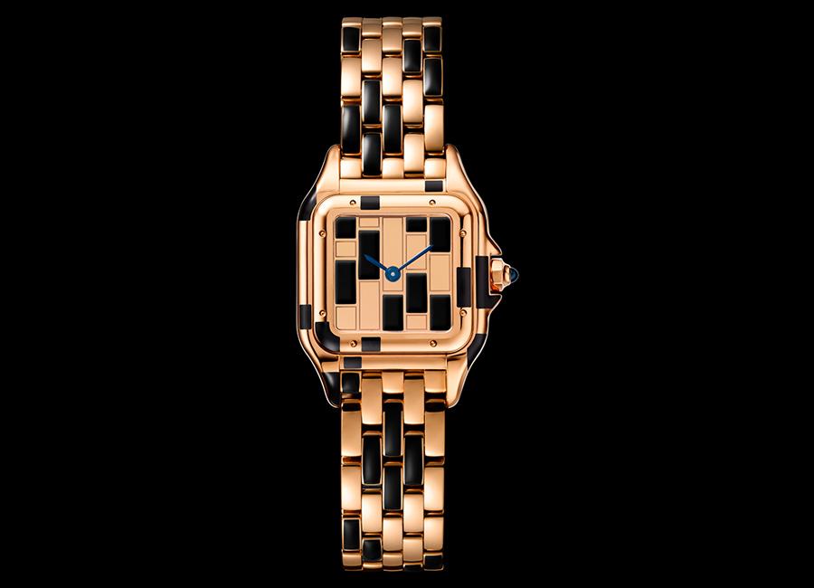 Panthere de Cartier-orologio-modello-piccolo-oro-rosa-lacca-nera_20