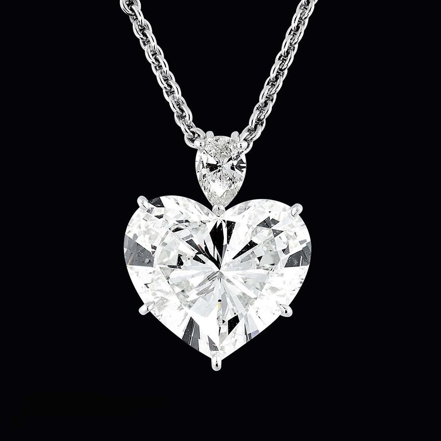 Pederzani - Ciondolo con diamante taglio cuore di 15 carati