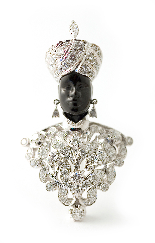 Museo Poldi Pezzoli-Nardi Spilla, Venezia 1947 platino, diamanti, ebano. Collezione Nardi