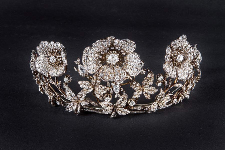 Museo Poldi Pezzoli_Musy Diadema, Torino fine XIX, inizi XX secolo oro giallo, argento, diamanti. Collezione privata