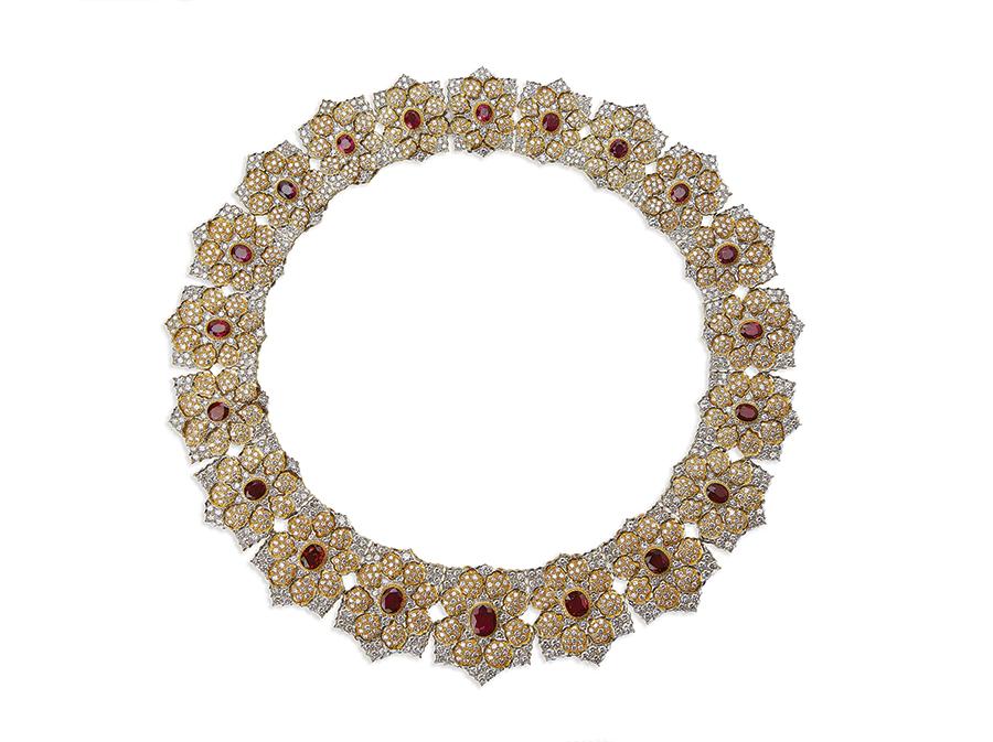 Museo Poldi Pezzoli-Gianmaria Buccellati Collana, Milano 1984 oro giallo, oro bianco, diamanti, rubini. Fondazione Gianmaria Buccellati