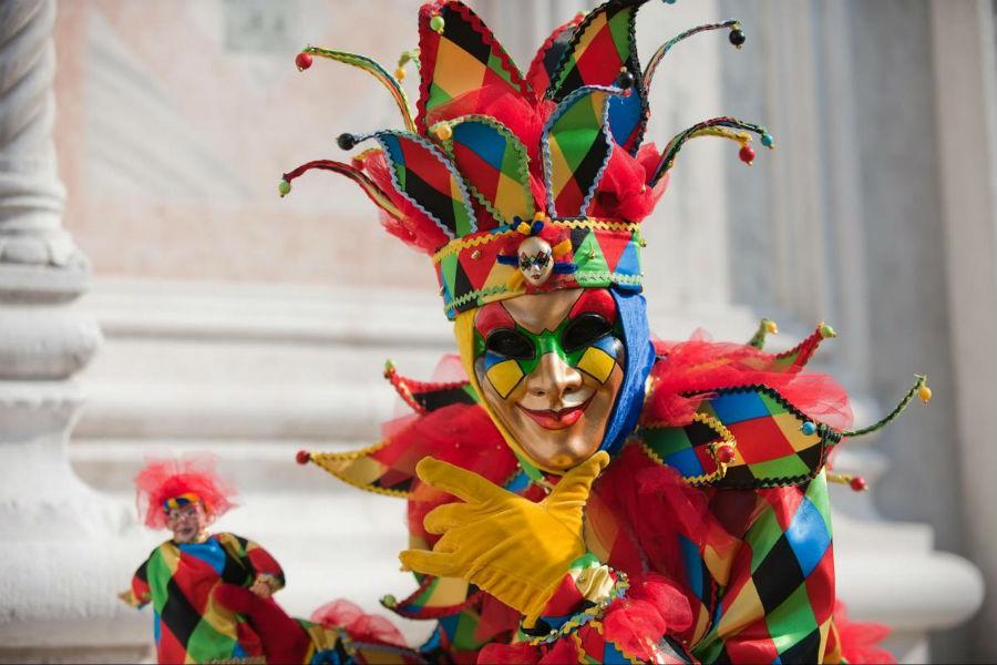 carnevale di venezia-maschera-arlecchino