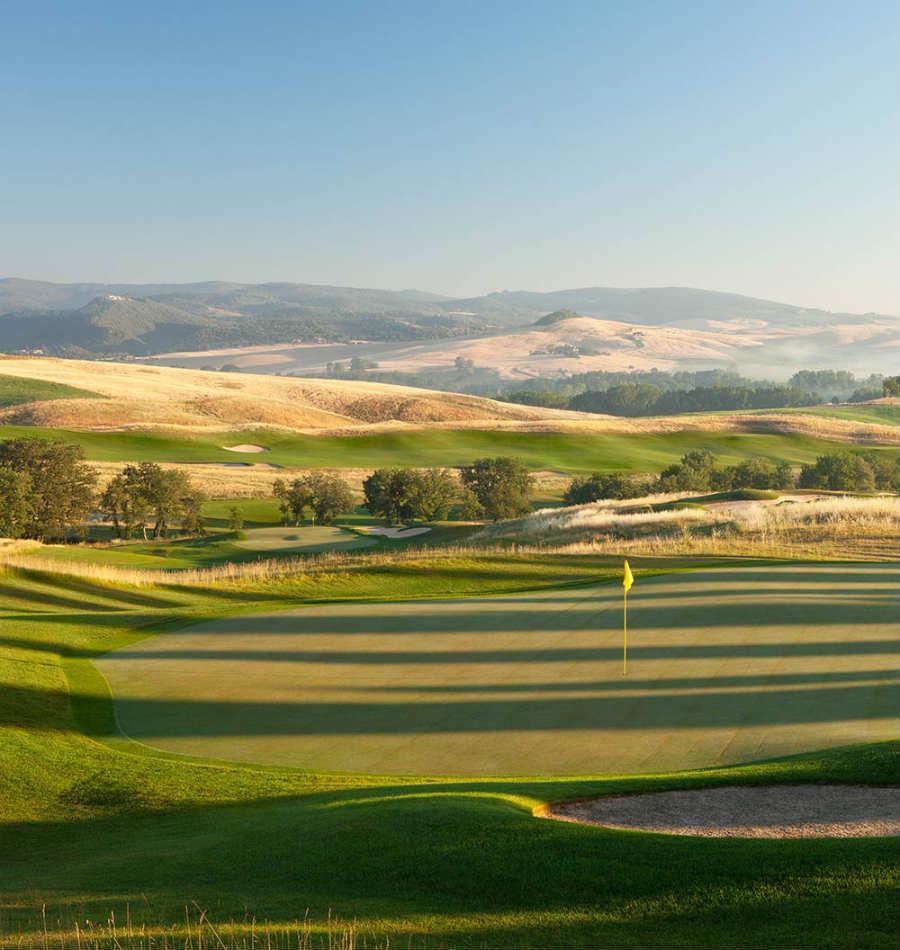 Castiglion del Bosco Golf Club-resort-luxury-toscana-dettaglio-campo-da-golf-paesaggio