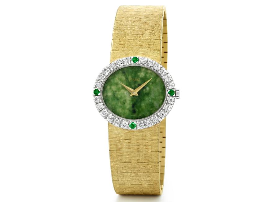 Natalie Portman-Jackie Kennedy-orologio-oro-diamanti-smeraldi-Piaget_A