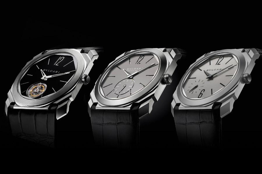 Octo Finissimo Automatico-titanio-sabbiato-bulgari-orologio-uomo-baselworld-3-modelli-differenze-particolari-del-quadrante-sfondo-nero-sfondo-grigio-cronografo