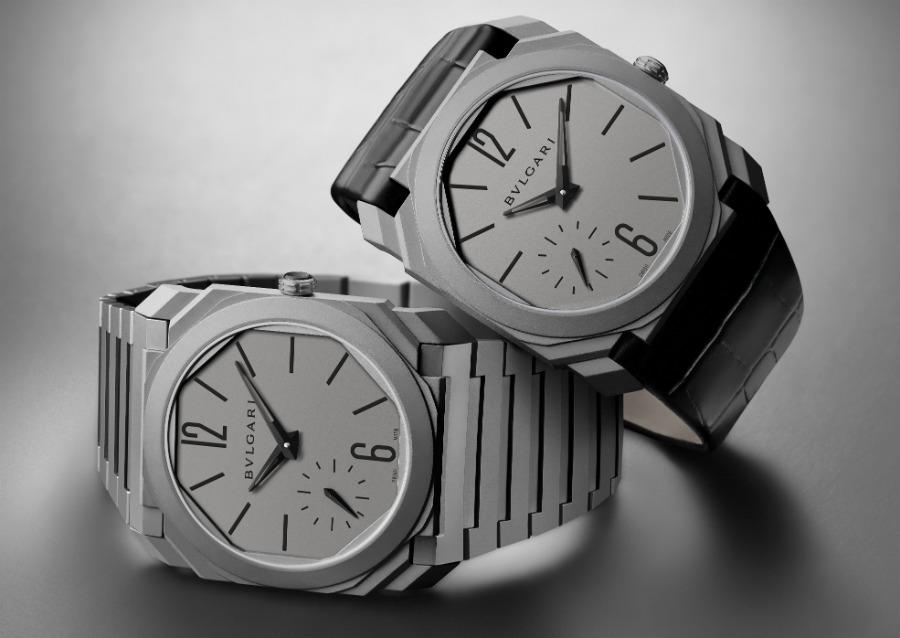 Octo Finissimo Automatico-bulgari-orologio-uomo-baselworld-titanio-sabbiato-decorato-a-mano-a-Côtes-de-Genève-e-perlage