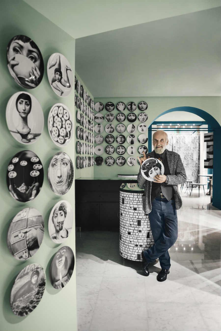 Piero Fornasetti-Interior-Designer_ritratto-figlio-Barnaba-Fornasetti-Store-Milano_2