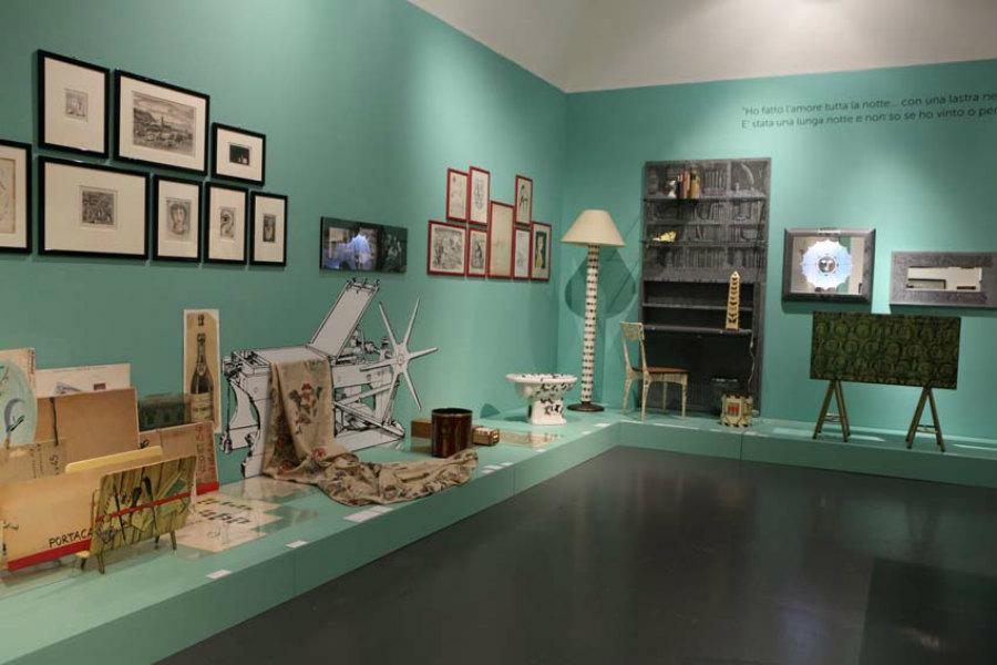 Piero Fornasetti-interior-Designer-Mostra-La-Follia-Pratica-Triennale-Milano_3