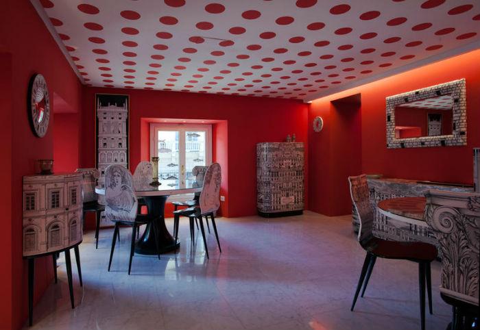 Piero Fornasetti-interior-Designer_Interno-Nuovo-Store-Via-Senato-Stanza-Pois_4