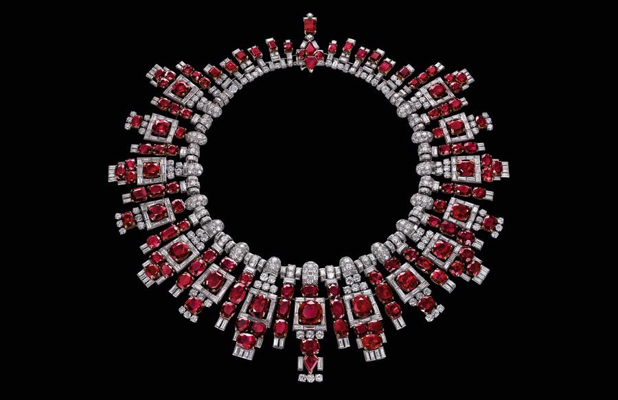 Al Thani-collezione-gioielli_collier-rubini-Cartie
