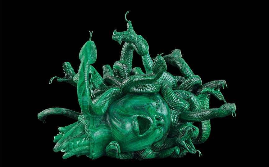 Damien Hirst-statua_The_Severed_Head_of_Medusa-mostra-venezia