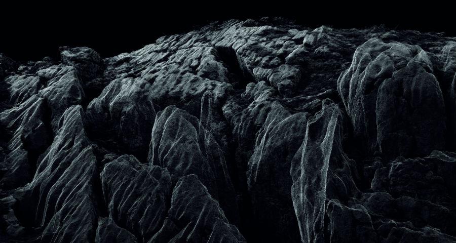 Dan Holdsworth-audemars piguet-la Vallee de Joux-Continuous Topography_paesaggio-particolare-acqua-e-rocce-bianco-e-nero