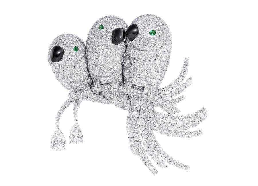 Graff Spilla Lovebirds (diamanti totali: 59.06cts)