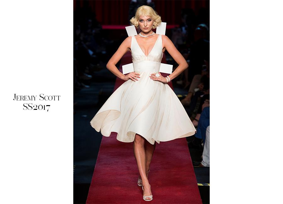 Pop-Jeremy-Scott-SS2017-abito-stile-Marilyn Monroe -bianco