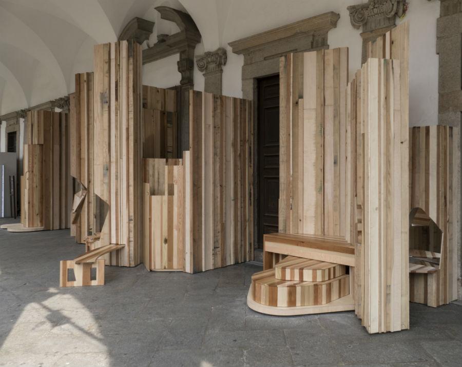 Salone del Mobile-Too Good to Waste di Benedetta Tagliabue_installazione-in-legno