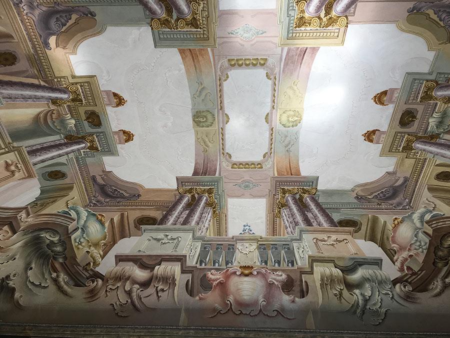 villa-sola-cabiati-affresco sul soffitto