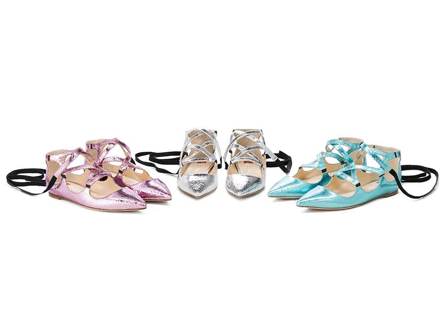 Ballin-ballerine con stringhe alla caviglia collezione SS2017