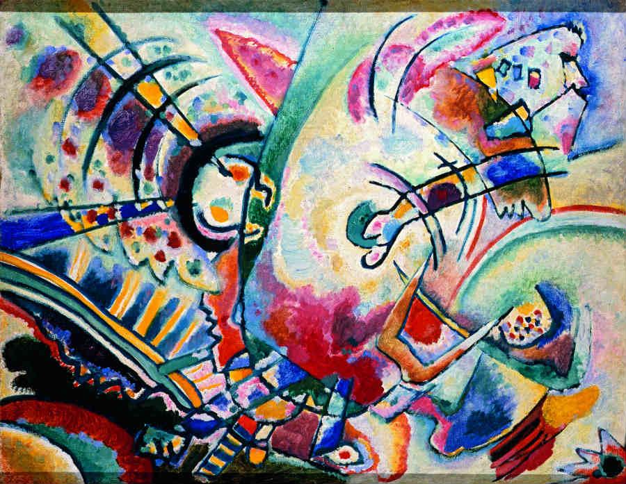 Kandinskij_immagine-quado_Non-obiettivo (Le naïves), 1910_Olio su tela, cm 50×66_Krasnodar, Museo Regionale d'Arte_© Krasnodar Regional Arts Museum after F. A. Kovalenko,