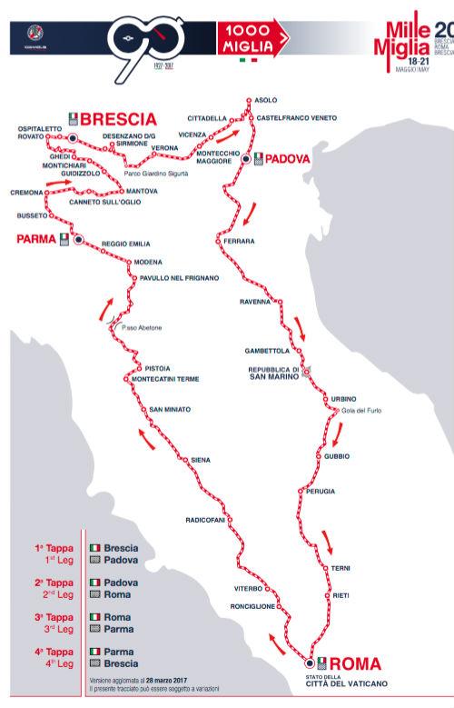 mille miglia 2017-cartina-del-tragitto