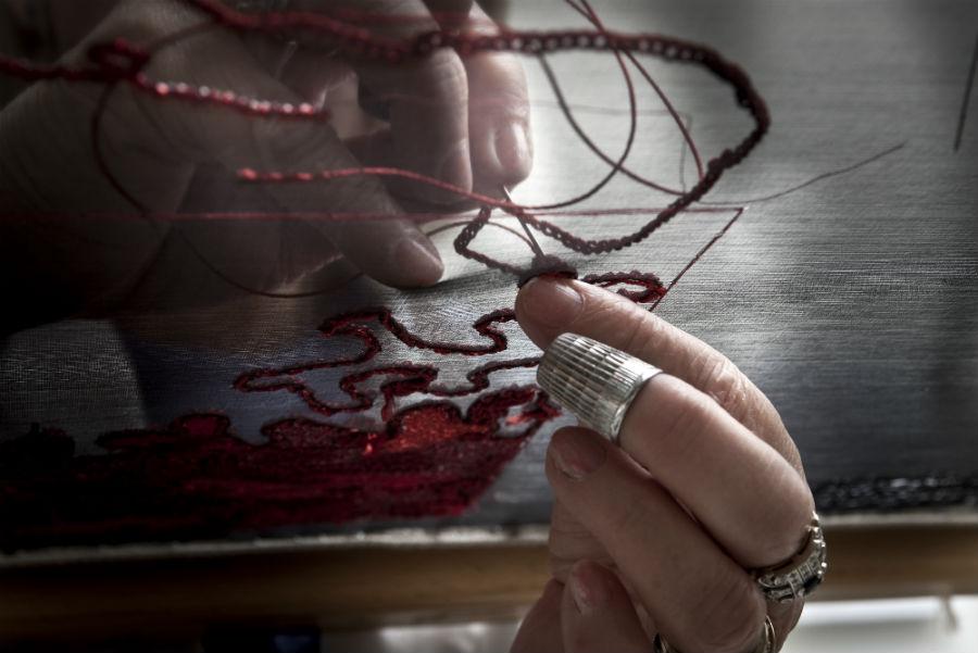 """Pino Grasso: Il ricamo """"a rovescio"""" o """"Lunéville"""", eseguito con il crochet"""